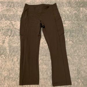 Lululemon Olive Green Cropped Leggings Size 6